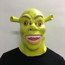 Shrek Mask Helmet Halloween Cosplay Season Natural Platex - $38.08 CAD