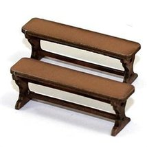4Ground 28mm Furniture: Light Wood Benches