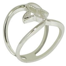 Shine Jewel 925 Sterling Silver White Gold Rhodium Twisted Band Stackabl... - $10.99