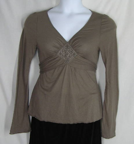 Primary image for Ric Rac Anthropologie Cocoa Brown Blouse Shirt Sz M NWT