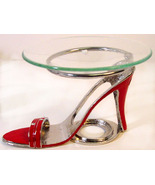 Red  Sandal Pewter High Heel Shoe Tea Light    - £15.47 GBP