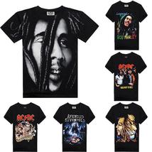 Men's 3D Creative Bob Marley Print Hip Hop Style Tee O-neck Short Sleeve T Shirt