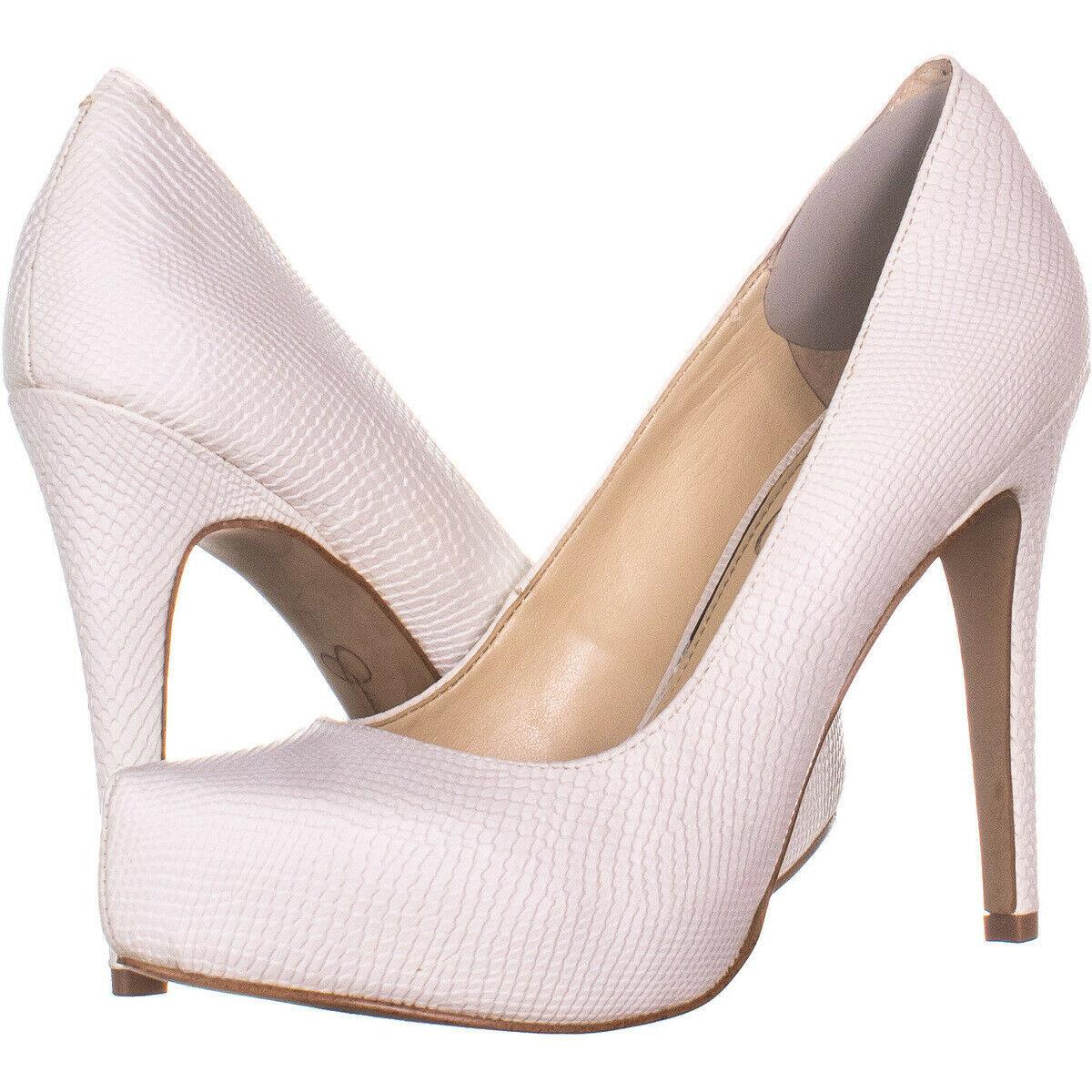 a4fc4eba7 Jessica Simspon Parisah Hidden Platform Heels 136, White, 6.5 US - $21.11