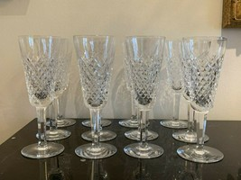 Vintage Waterford Crystal Alana Fluted Champagne Glasses Set of 12 - $799.00