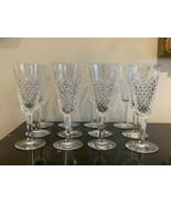 Vintage Waterford Crystal Alana Fluted Champagne Glasses Set of 12 - $799.00