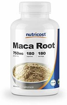Nutricost Maca Root Lepidium meyenii 750mg, 180 Capsules, 180 Servings - $19.21