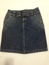 GAP Women's Stretch Denim Blue Jean Skirt w/ Rear Slit Size 4 - $5.89