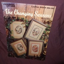 The Changing Seasons Cross Stitch Pattern Leaflet Book Leisure Arts 2004... - $9.99