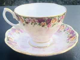 Royal Albert Old Country Roses Peach Damask Tea Cup Saucer  - $34.65