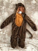 Monkey Costume Brown Halloween Curious George Baby Size 0-9 Month Adorable - $12.82
