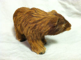 Wild Brown Grizzly Bear Animal Figurine - recycled rabbit fur image 4