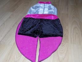Adult Size Medium Costume Gallery Tuxedo Tails Dance Unitard Leotard Bla... - $45.00