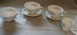 Mikasa Fine China First Love #202 Lot 3 Cups & 2 Saucers Demitasse Cup J... - $12.86