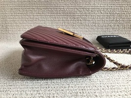 AUTHENTIC NEW Chanel Burgundy Quilted LAMBSKIN FLAP BAG GOLDTONE HW image 6