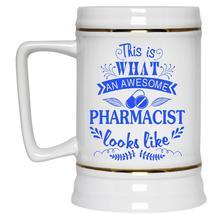 Cute Beer Stein 22oz, What An Awesome Pharmacist Looks Like Beer Mug - $26.99