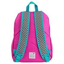 "NEW Yoobi 17"" Checker Color Block Multi-Color Backpack image 5"