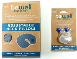 Lewis N Clark Travel Bundle Adjustable Neck Pillow + Pressure Reducing E... - $20.32