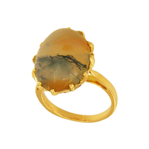 Big Unique 14k Yellow Gold with Gemstone Ring - $295.00