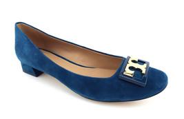 New TORY BURCH Size 6.5 GIGI Symphony Blue Suede Low Heel Pumps Shoes 6 1/2 - $189.00