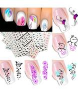 Nail Art Water Transfer Sticker Flower Cat Stickers Decals Tips Decorati... - $2.79