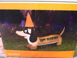 "Halloween Inflatable Dog HAPPY HALLOWIENER New (53"" x 13"" x 34"") Weiner Dog - $39.59"