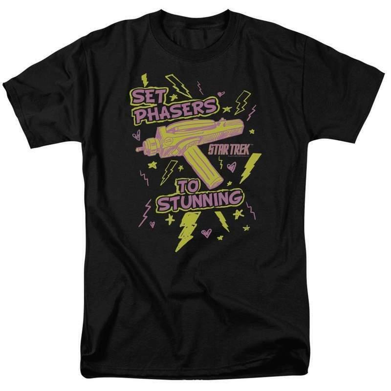 Star Trek t-shirt Set Phasers To Stunning Retro Sci-Fi series graphic tee CBS353