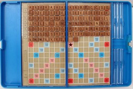 Scrabble Crossword Game Travel Edition word challenge mind vintage 1970'... - $18.69