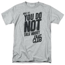 Fight Club T-shirt First Rule retro 90s movie graphic printed sports grey tee image 2