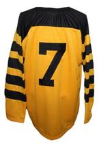 Any Name Number Pittsburgh Yellow Jackets Retro Hockey Jersey Any Size image 2