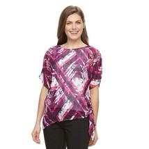 Womens Dana Buchman Pink Purple Top Sheer Attached Cami Career Sz XL  - $24.74