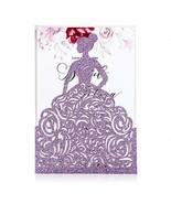 FEIYI 25PCS Laser Cut Wedding Invitations Cards for Birthday Sweet 15 Qu... - $27.03