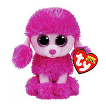 Ty Beanie Boos Stuffed & Plush Animal Colorful Pink Poodle Toy Doll With... - $12.28