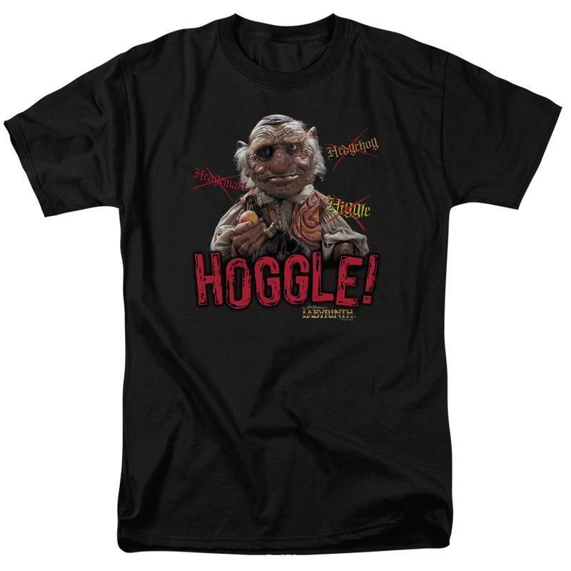 Labyrinth Hoggle Tee Fantasy Cult film Retro 80's adult graphic t-shirt LAB123