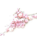 Necklace Sea Shell Pearl & Glass Beads Pink - $12.99