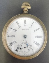 Antique 1908 American Waltham Sterling Grade 18S 15J OF GF Pocket Watch - €109,93 EUR