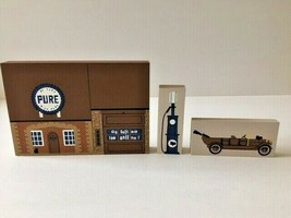 CAT'S MEOW PURE GAS STATION RARE TAN SIDES VERSION WOOD CUT SHELF SITTER... - $18.50