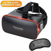 Pansonite 3D VR Glasses Virtual Reality Headset with Remote Controller f... - $37.26