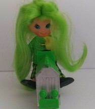 """Vintage 1960s Rally Green Hair Flatsy 5"""" Doll Toy by Ideal With Race Car... - $44.66"""