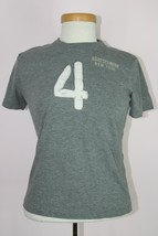 Abercrombie Kids Boys Gray Short Sleeve Shirt Sz Medium - $14.01
