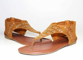 anika-58 New Blink Flat Sandals Gladiator Zipper Party Casual Women's Shoes  Tan - $12.59
