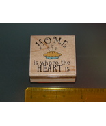 Rubber Stamps - HOME is where the HEART is (New) - $6.25