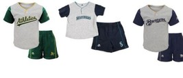 MLB Infant Boy's Batting Practice Jersey & Shorts 2-Piece Set Shirt Short Baby