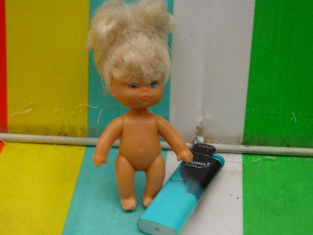 Vintage Soviet Russian USSR  African-Soviet Plastic Doll about 1964