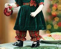 Image 2 of Rachel Porcelain Doll, Green & Red w/Ornament Heritage Signature Collection 13