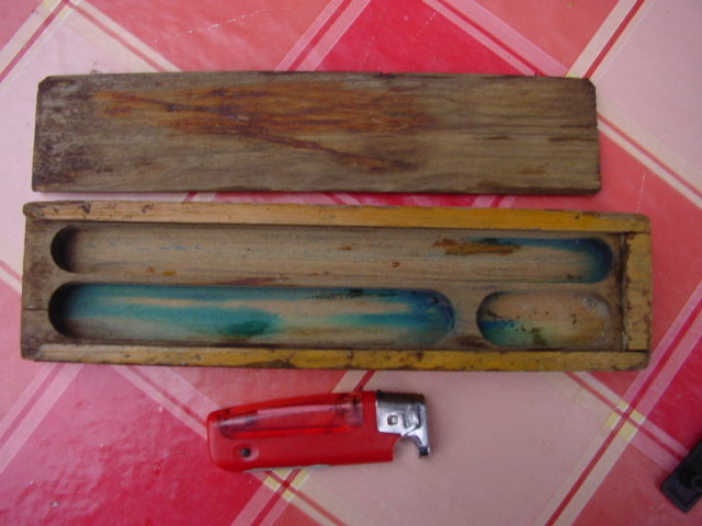 Vintage Soviet Russian USSR Old School Pen Holder from about 1950-60. Wood