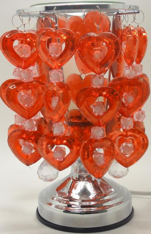 Hearts  Electric Glass Oil or Tart Warmer Red/White