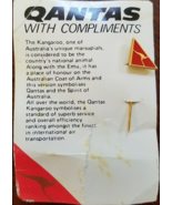 QANTAS Red Kangaroo Lapel/Hat Triangular Pin on card, Unused - $8.95
