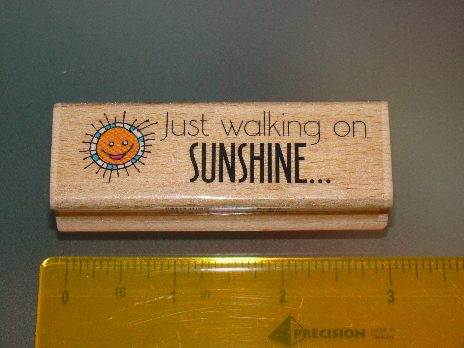 Rubber Stamps - Just walking on SUNSHINE... (New)
