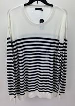 Nautica Men's Classic Fit Breton Striped Sweater Marshmallow 3XL S81103 - $23.75