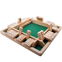 GrowUpSmart 4-Way Shut The Box Dice Game 2-4 Players for Kids + Adults [... - $24.47
